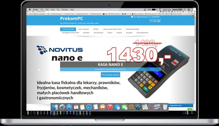 Strona internetowa firmy informatycznej