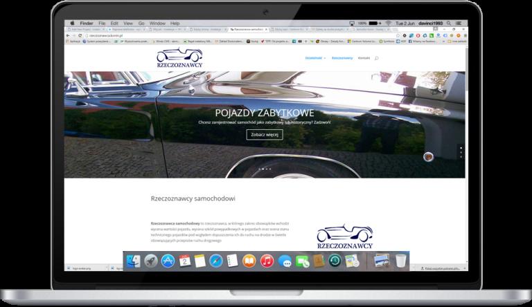 Strona internetowa dla Rzeczoznawców Samochodowych